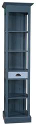 Casa Padrino Landhausstil Regalschrank mit Schublade Blau / Hellblau 50 x 39 x H. 197 cm - Landhausstil Möbel