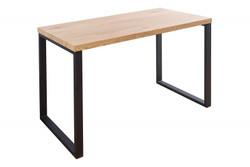 Casa Padrino Designer Desk Nature / Black 128 x 60 x H.75 - Secretary console - Computer desk