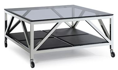 Casa Padrino Luxury Coffee Table Silver 100 X 100 X H 50 Cm