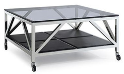 Casa Padrino luxury coffee table silver 100 x 100 x h. 50 cm - living room furniture