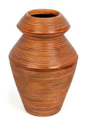 Casa Padrino ceramic vase light brown Ø 22 x H. 33 cm - Luxury Decoration