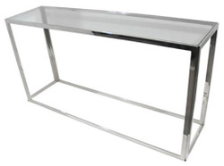 Casa Padrino luxury console silver 150 x 40 x H. 78 cm - Living Room Console Table