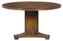 Casa Padrino luxury oak wood dining table brown Ø 135 x H. 78 cm - Solid Wood Dining Room Furniture