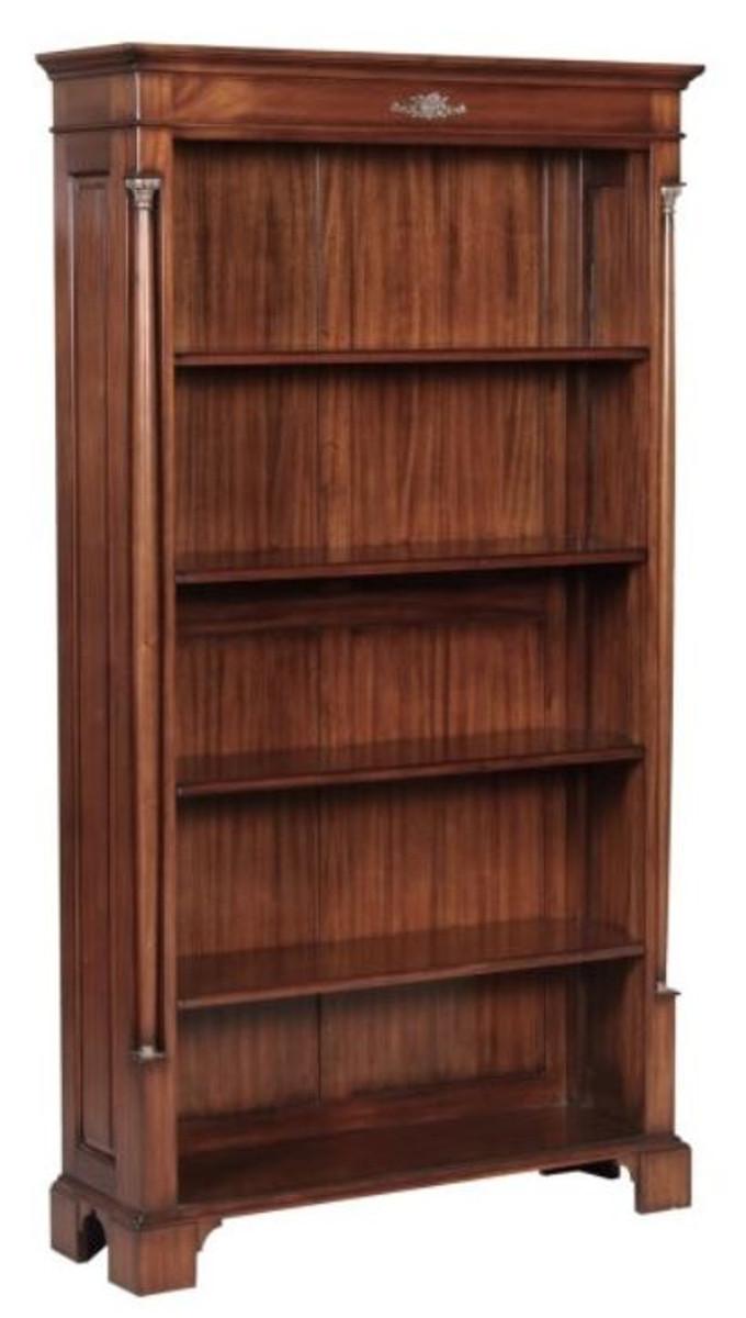 Casa Padrino Luxus Barockstil Bücherschrank / Regalschrank Braun 103 x 32 x H. 185,5 cm - Barock Wohnzimmermöbel 1