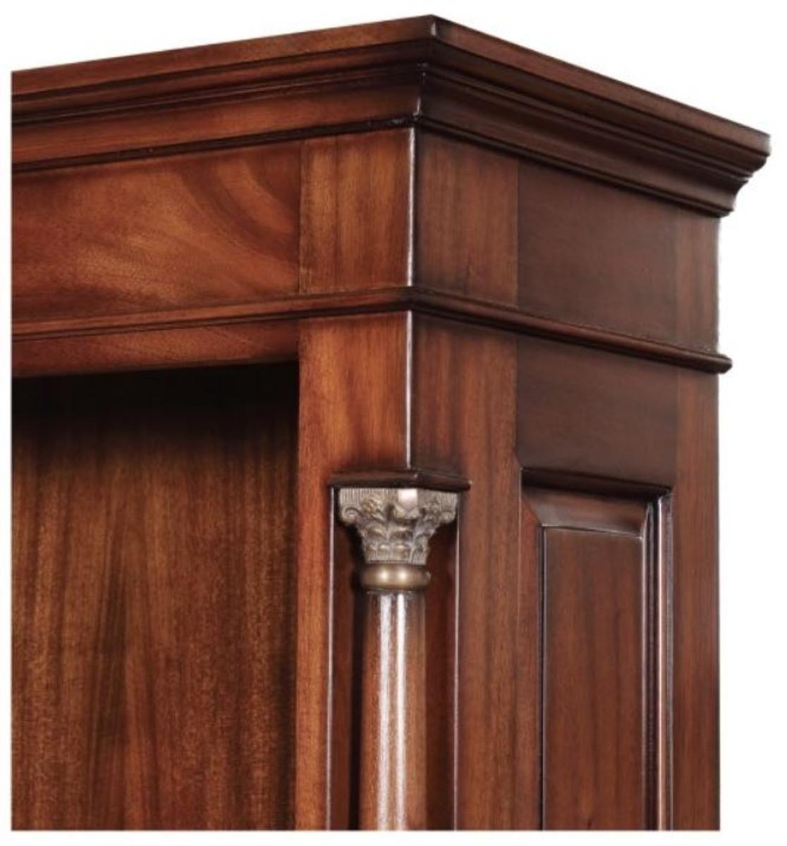 Casa Padrino Luxus Barockstil Bücherschrank / Regalschrank Braun 103 x 32 x H. 185,5 cm - Barock Wohnzimmermöbel 4