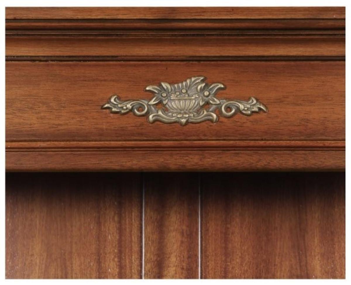 Casa Padrino Luxus Barockstil Bücherschrank / Regalschrank Braun 103 x 32 x H. 185,5 cm - Barock Wohnzimmermöbel 5