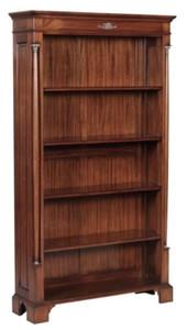 Casa Padrino Luxus Barockstil Bücherschrank / Regalschrank Braun 103 x 32 x H. 185,5 cm - Barock Wohnzimmermöbel