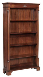 Casa Padrino luxury baroque style bookcase / shelf cabinet brown 103 x 32 x H. 185.5 cm - Baroque Living Room Furniture