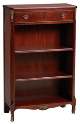 Casa Padrino baroque style bookcase with drawer red brown 66.5 x 29.5 x H. 107.3 cm - Luxury Baroque Furniture