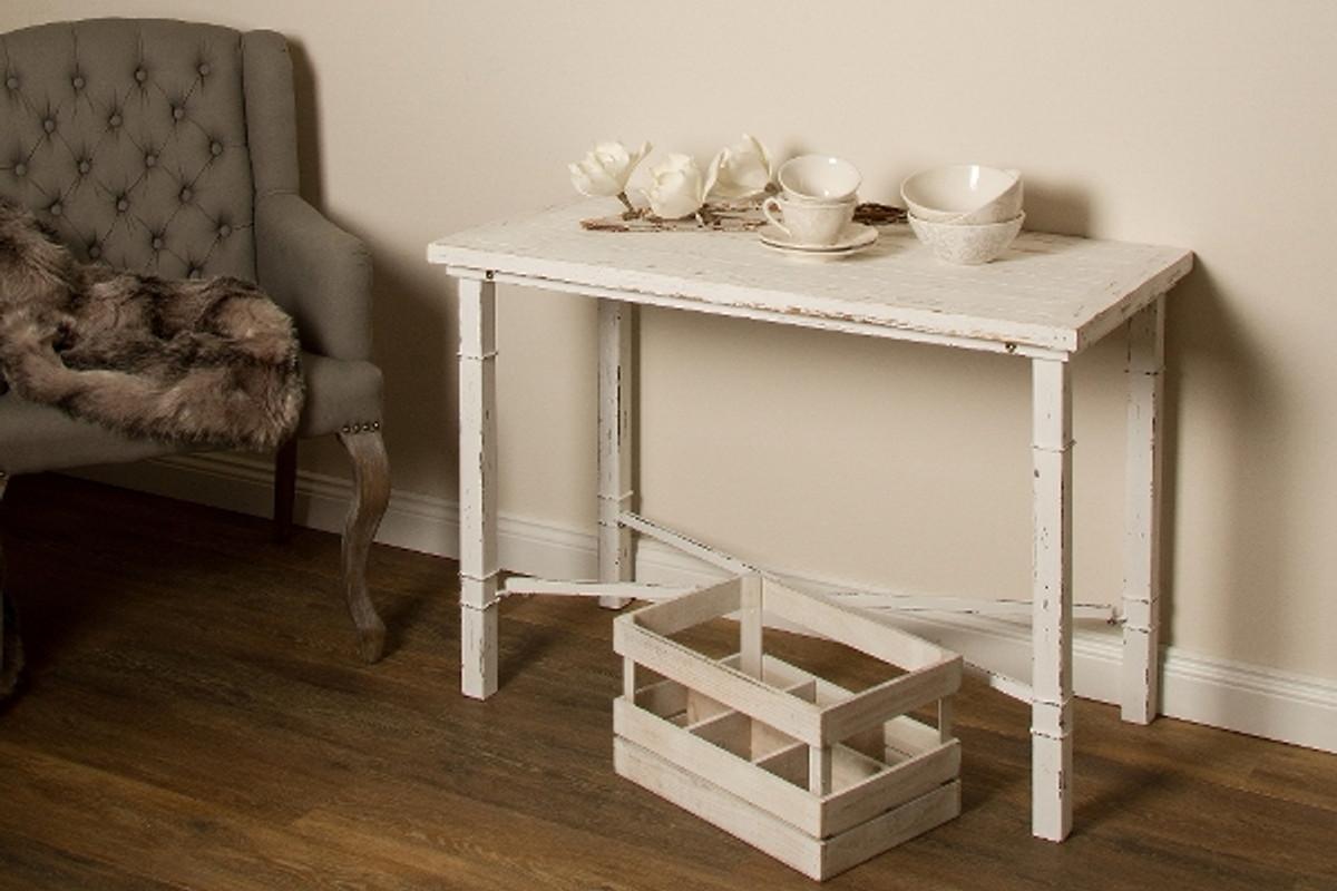Tavoli Stile Shabby Chic : Casa padrino tavolo da pranzo stile country bianco antico 120 x 60 x