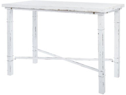Casa Padrino Country Style Dining Table Antique White 120 x 60 x H. 80 cm - Small Shabby Chic Dining Room Table