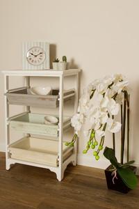 Casa Padrino Country Style Shelf Cabinet White / Multicolored 54 x 32 x H. 86 cm - Handmade Shabby Chic Shelf with 3 Compartments – Bild 5