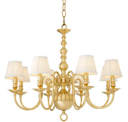 Casa Padrino Luxury Baroque Style Chandelier Gold Ø 85 x H. 75 cm - Baroque Furniture
