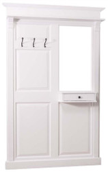 Casa Padrino Country Style Wardrobe with Drawer White 131 x 19 x H. 210 cm - Country Style Furniture