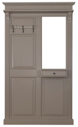 Casa Padrino Country Style Wardrobe with Drawer Dark Gray 131 x 19 x H. 210 cm - Country Style Furniture