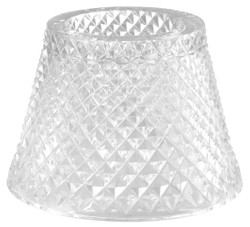 Casa Padrino Glass Tealight Holder Lampshade Clear Ø 15 x H. 12.5 cm - Luxury Accessories