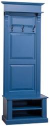 Casa Padrino Country Style Wardrobe Blue 79 x 41 x H. 210 cm - Country Style Wardrobe Cupboard