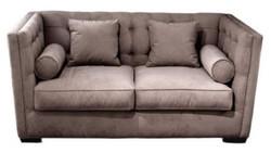 Casa Padrino Luxus Couch / Schlafcouch Hellbraun 180 x 100 x H. 85 cm - Wohnzimmersofa mit 4 Kissen