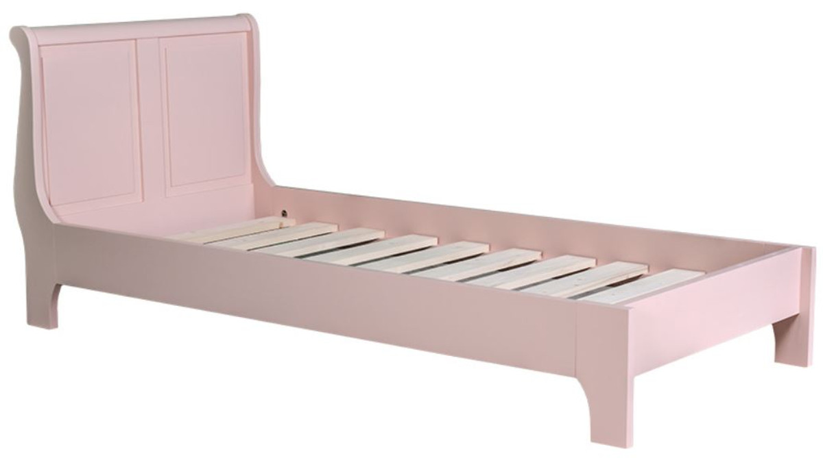 Casa Padrino Solid Wood Country Style Bed Pink   Various Sizes   Bedroom  Furniture
