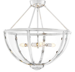 Casa Padrino luxury ceiling lamp silver Ø 60 x H. 55 cm - Hotel & Restaurant Ceiling Light