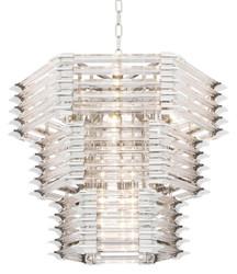 Casa Padrino Luxus Glas Kronleuchter Silber 65 x 65 x H. 54 cm - Hotel Möbel