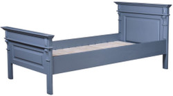 Casa Padrino Country Style Bed Blue - Various Sizes - Solid Wood Bedroom Furniture