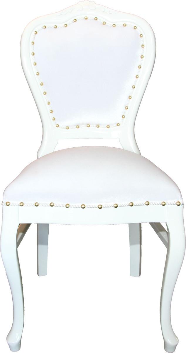 Barock Luxus Esszimmer Stuhl Louis Weiß Weiß Hotel & Restaurant Bestuhlung Stühle Barock