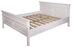 Casa Padrino Country Style Bed White - Various Sizes - Solid Wood Bedroom Furniture
