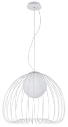 Casa Padrino Hanging Lamp White Ø 50 x H. 41 cm - Luminaire Made of Curved Metal Rods