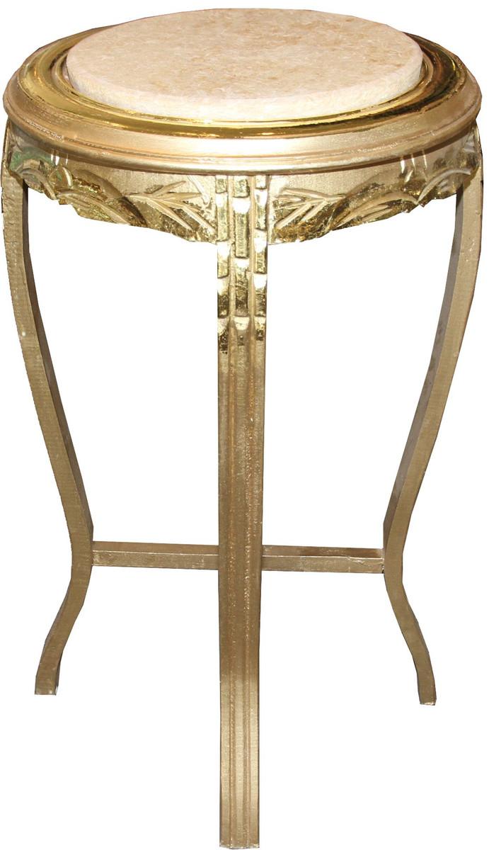 casa padrino barock beistelltisch rund gold creme antik. Black Bedroom Furniture Sets. Home Design Ideas