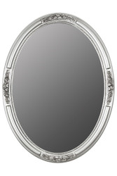 Casa Padrino Baroque wall mirror oval silver height 77 cm, width 57 cm - noble & sumptuous - vintage look - handmade