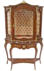 Casa Padrino Barock Vitrine 105 x 42 x H. 174 cm - Barock Möbel - Vitrinenschrank - Wohnzimmerschrank