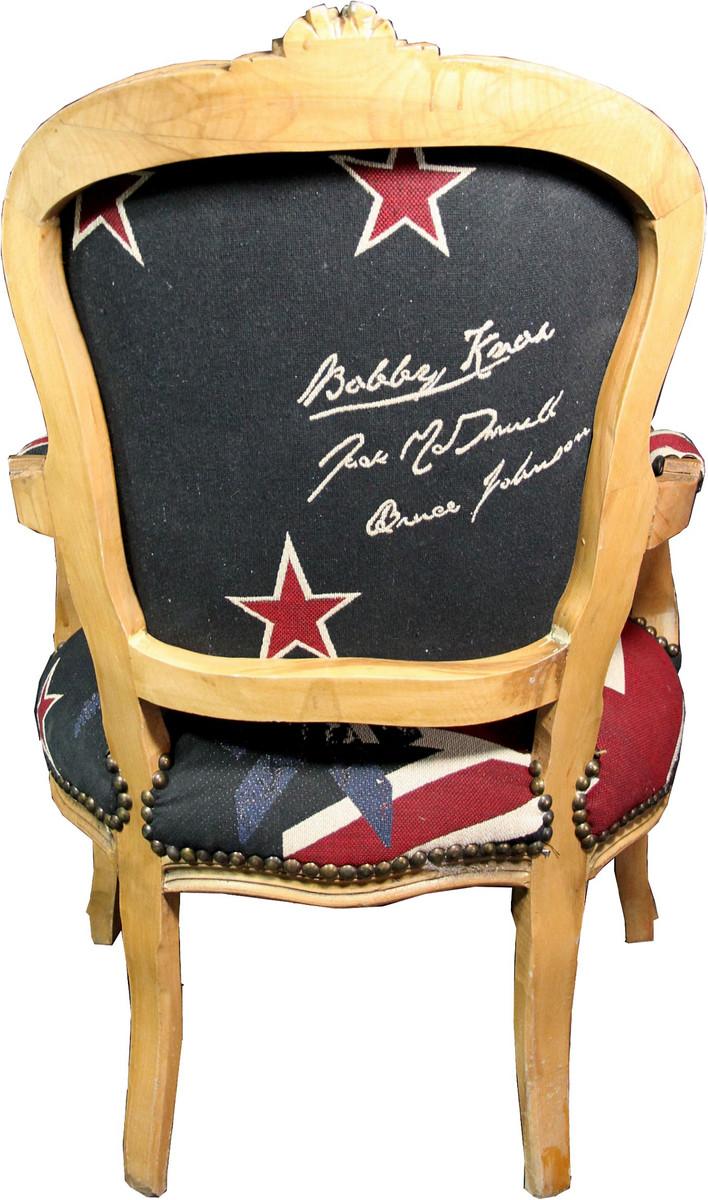 Casa Padrino Barock Salon Stuhl New Zealand / Holzfarbig - Neuseeland Fashion Möbel 4