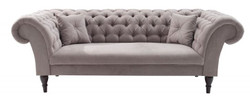 Casa Padrino Chesterfield Sofa in Greige 230 x 90 x H. 79 cm - Designer Chesterfield Sofa