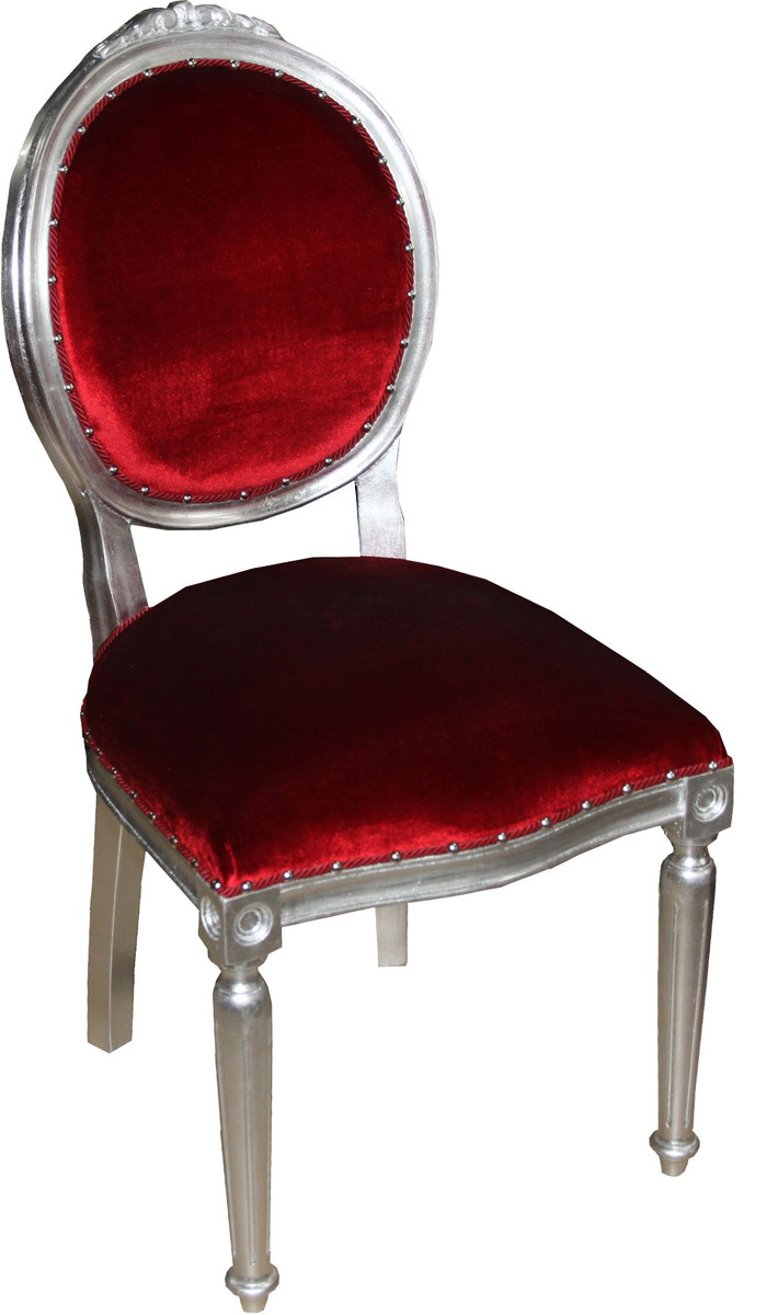 Casa Padrino Barock Medaillon Luxus Esszimmer Stuhl Ohne Armlehnen