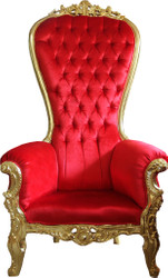 Casa Padrino Baroque throne Majestic Mod2 Bordeaux Red/Gold - Giant chair -Thron chair Tron