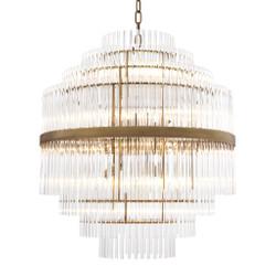 Casa Padrino Luxus Glas Kronleuchter Gold ø 60 x H. 62 cm - Hotel Möbel