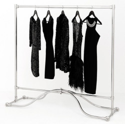 Casa Padrino luxury clothes rail stainless steel plated - clothes rack coat rack coat rack - store equipment