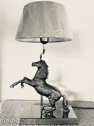 Casa Padrino Table Lamp Wild Horse - decorative light H52 x 30 x 13 cm