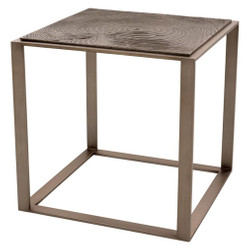 Casa Padrino luxury side table pink-bronze 56 x 56 x H. 55.5 cm - Hotel Furniture