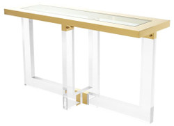 Casa Padrino Console / Console Table Gold 140 x 45 x H. 78 cm - Luxury Furniture