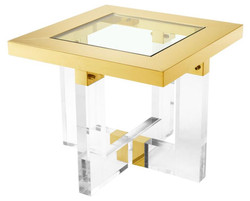 Casa Padrino Living Room Side Table Gold 60 x 60 x H. 50 cm - Luxury Furniture
