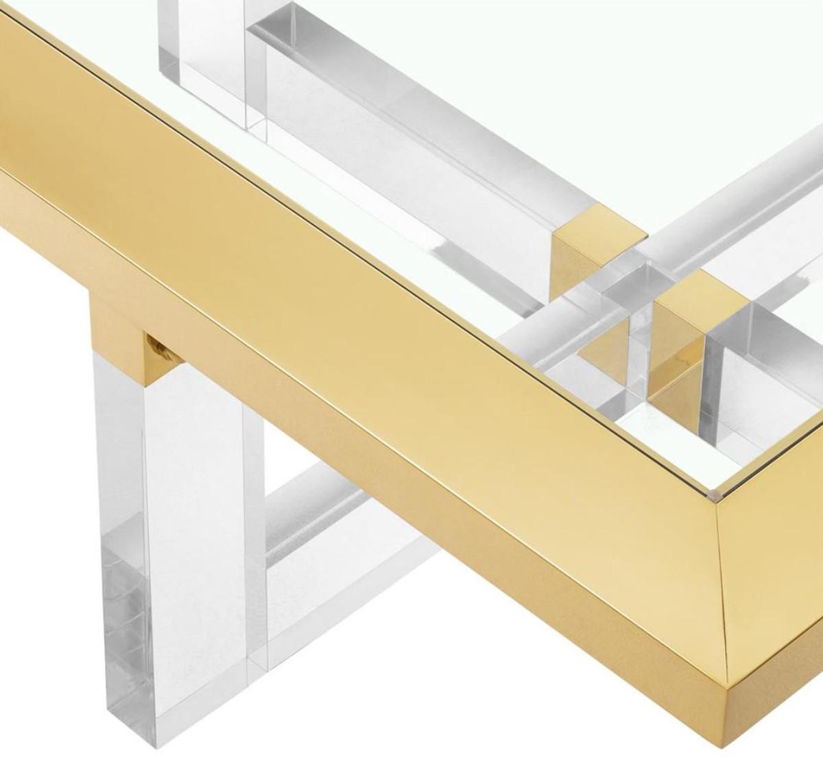 Casa padrino luxus couchtisch wohnzimmertisch gold 100 x for Couchtisch 100 x 50