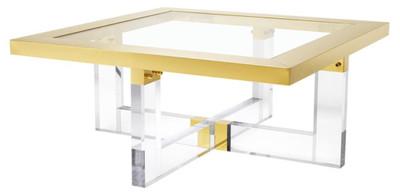 Casa Padrino Table Basse De Luxe Or 100 X 100 X H 43 Cm Meubles De Salon