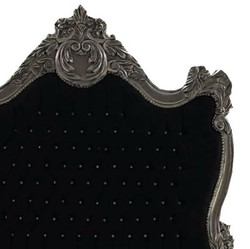 Baroque bed Barocco Black / Silver Bling Bling Rhinestones 140 x 200 cm from the luxury collection Casa Padrino 3