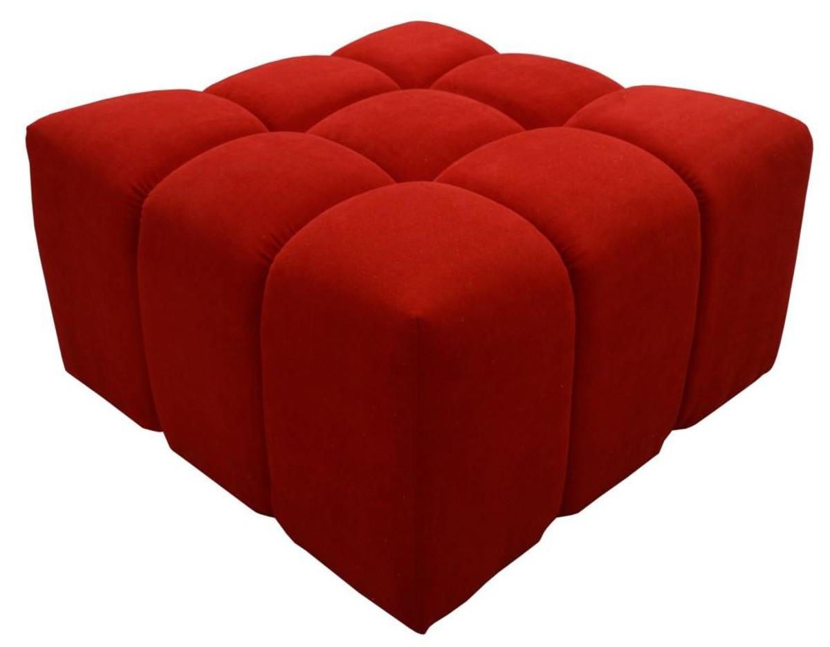 Casa Padrino Luxus Hocker / Sitzhocker Rot 7 x 7 x H. 7 cm -  Wohnzimmermöbel