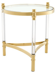 Casa Padrino Living Room Side Table Gold Ø 50 x H. 55 cm - Luxury Collection