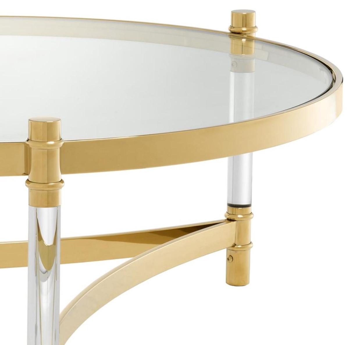 Casa padrino coffee table living room table gold ø 104 x h 43 cm
