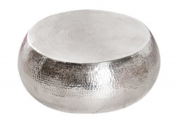 Casa Padrino luxury coffee table silver 80cm - living room salon table