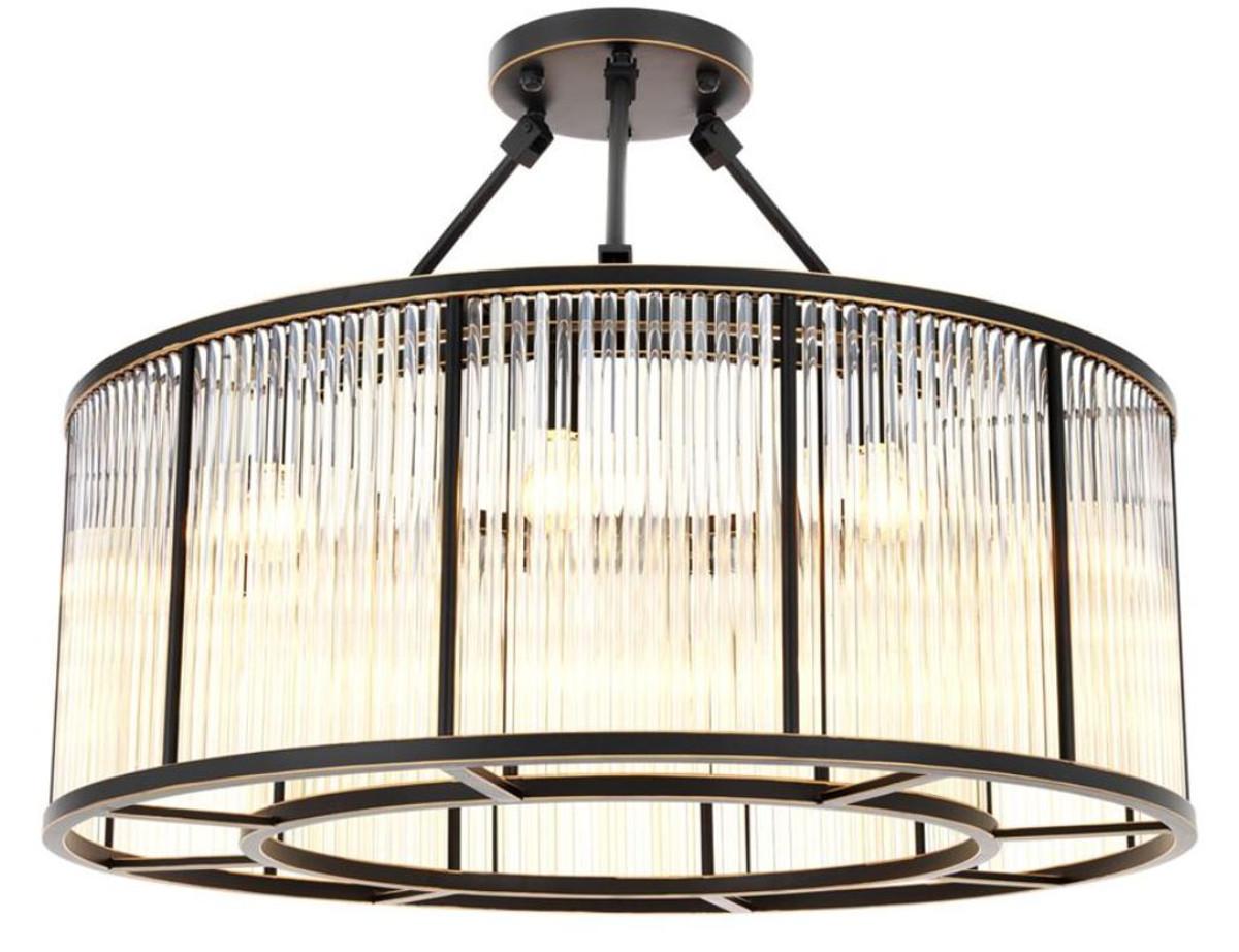 Casa Padrino Deckenleuchte Bronze ø 80 X H 61 Cm Luxus Qualität
